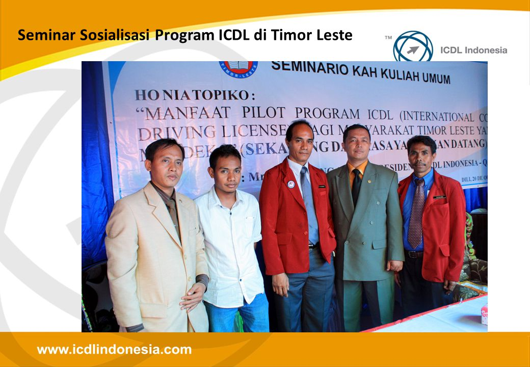 Seminar Sosialisasi Program ICDL di Timor Leste