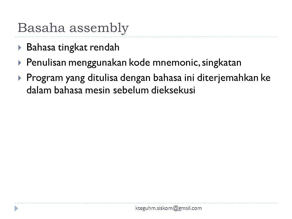 Basaha assembly Bahasa tingkat rendah