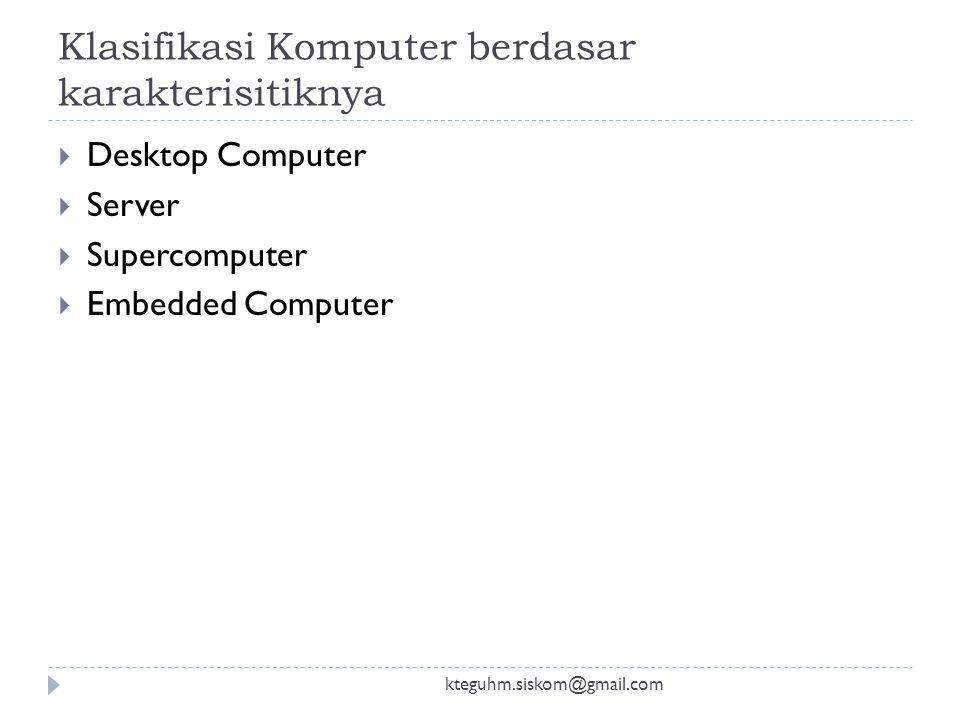 Klasifikasi Komputer berdasar karakterisitiknya