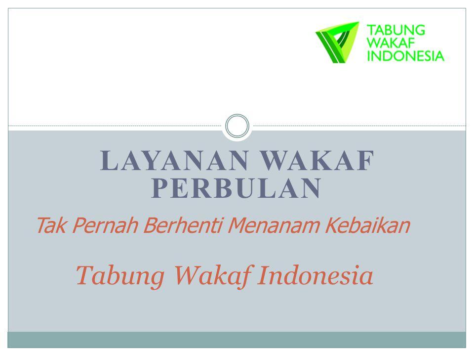 Tak Pernah Berhenti Menanam Kebaikan Tabung Wakaf Indonesia