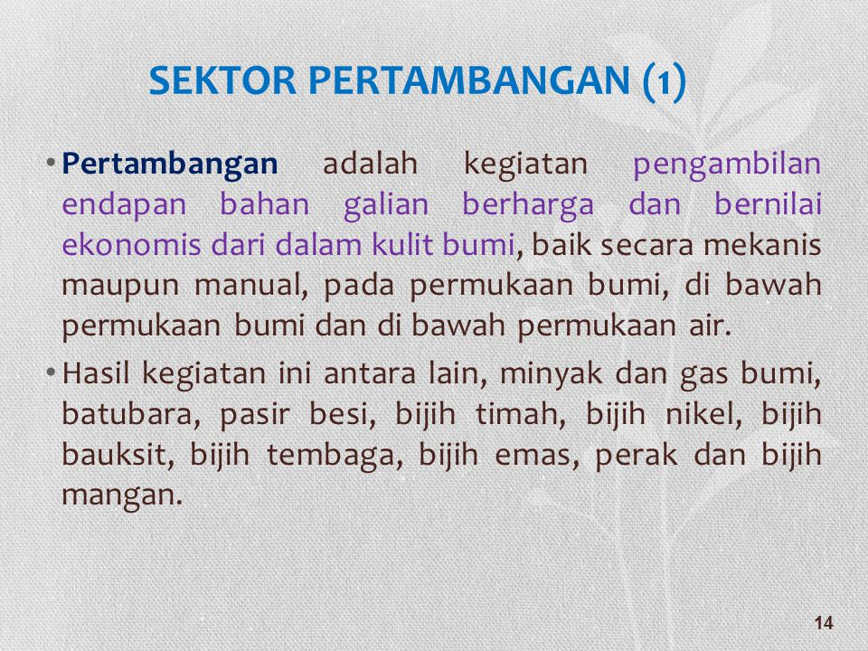 SEKTOR PERTAMBANGAN (1)