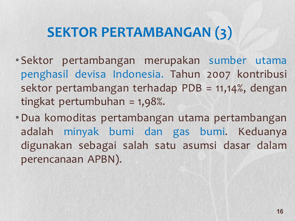 SEKTOR PERTAMBANGAN (3)