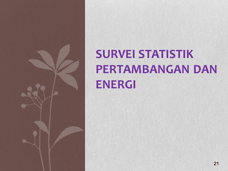 SURVEI STATISTIK PERTAMBANGAN DAN ENERGI