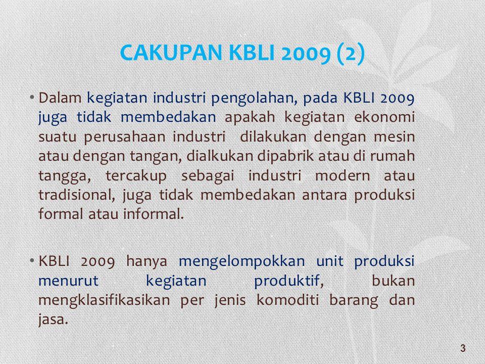 CAKUPAN KBLI 2009 (2)