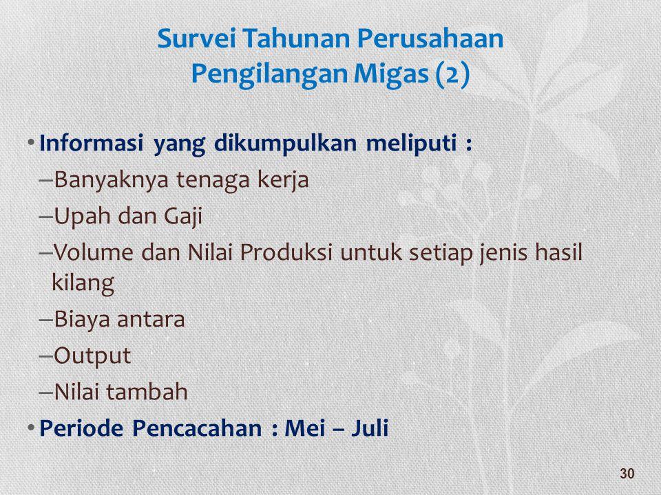 Survei Tahunan Perusahaan Pengilangan Migas (2)
