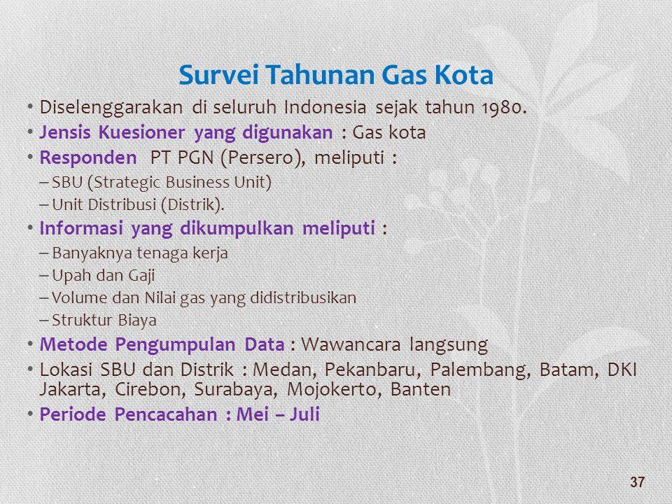 Survei Tahunan Gas Kota