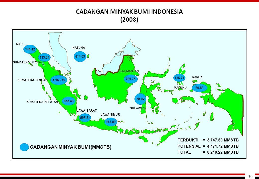 CADANGAN MINYAK BUMI INDONESIA (2008)