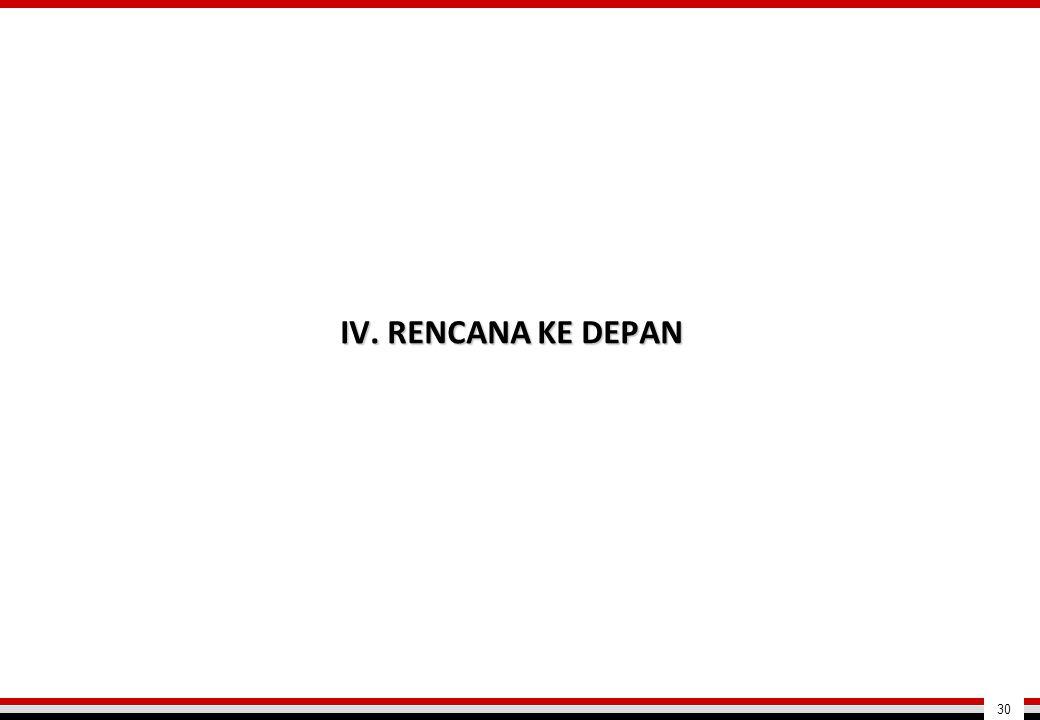 IV. RENCANA KE DEPAN