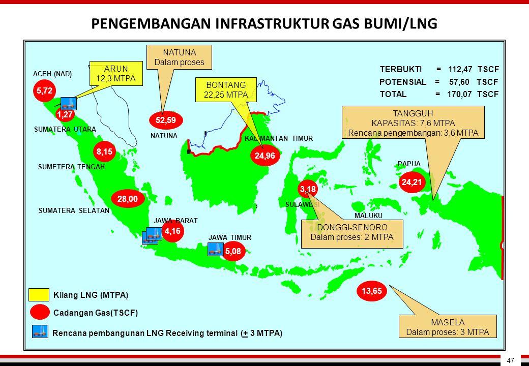 PENGEMBANGAN INFRASTRUKTUR GAS BUMI/LNG