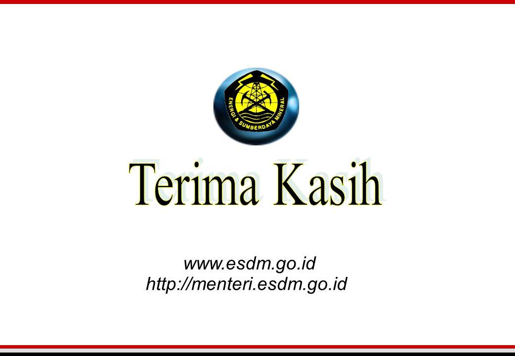 Terima Kasih www.esdm.go.id http://menteri.esdm.go.id