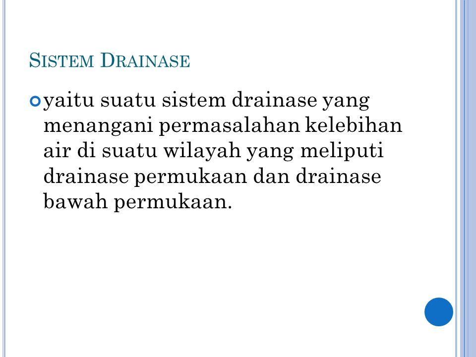 Sistem Drainase