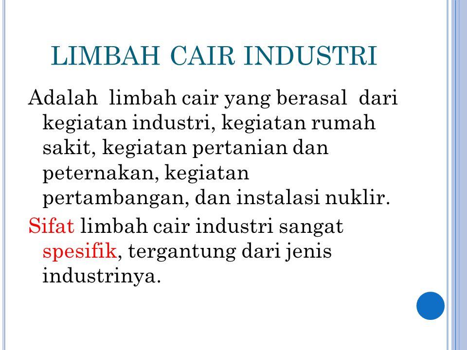 LIMBAH CAIR INDUSTRI