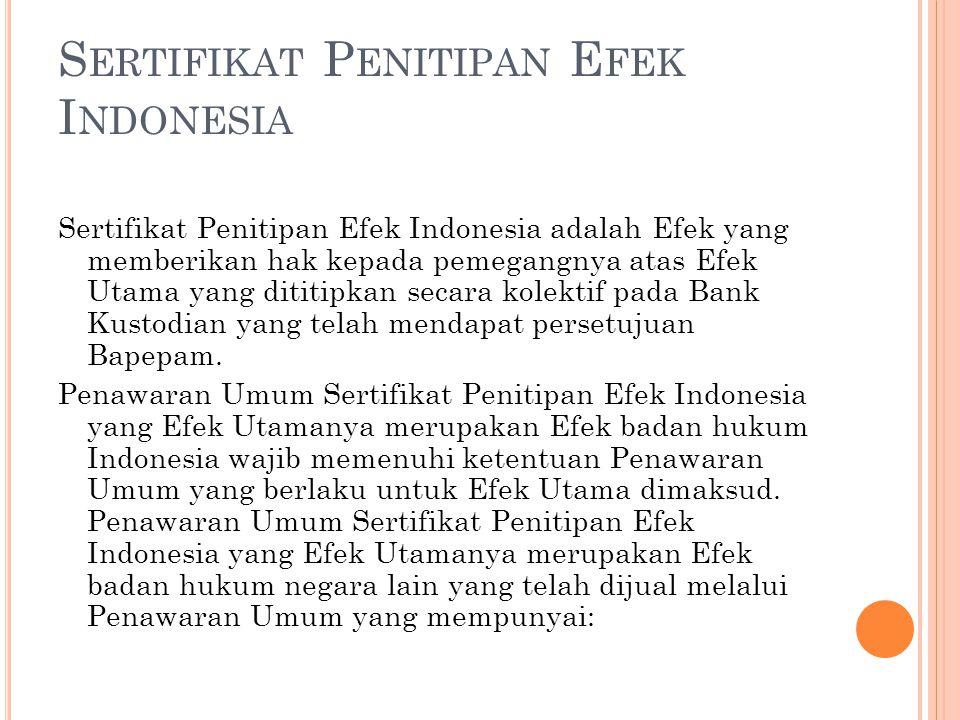 Sertifikat Penitipan Efek Indonesia