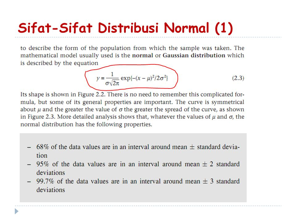 Sifat-Sifat Distribusi Normal (1)