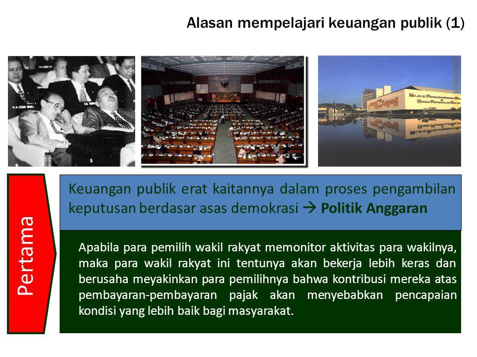 Alasan mempelajari keuangan publik (1)