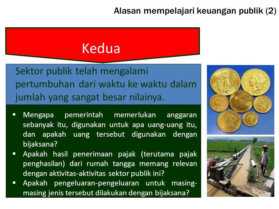 Alasan mempelajari keuangan publik (2)