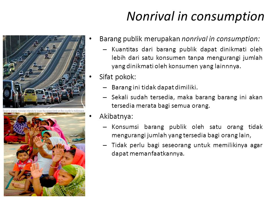 Nonrival in consumption