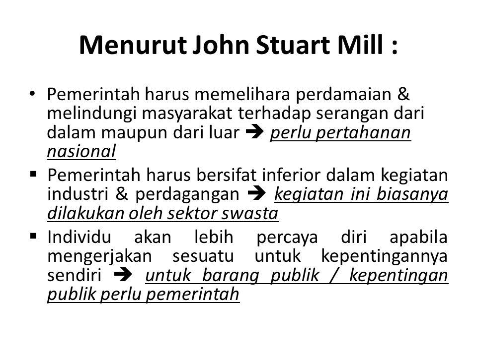 Menurut John Stuart Mill :