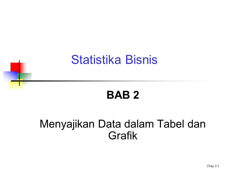 BAB 2 Menyajikan Data dalam Tabel dan Grafik