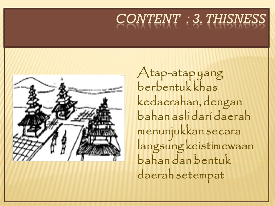 CONTENT : 3. THISNESS