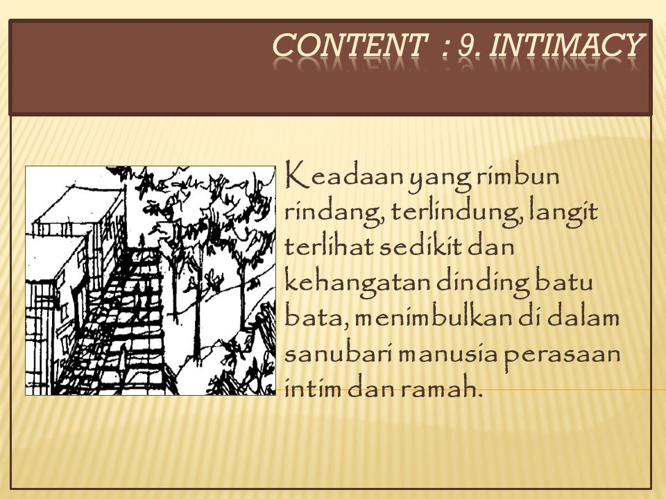 CONTENT : 9. INTIMACY