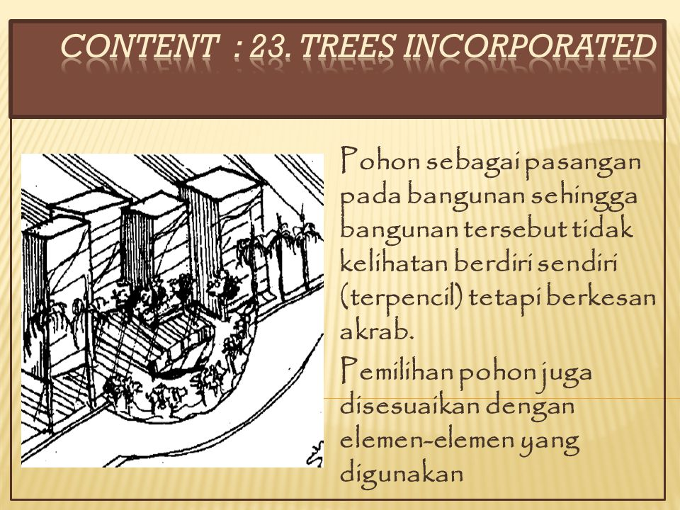 CONTENT : 23. TREES INCORPORATED
