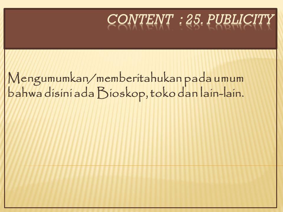 CONTENT : 25.