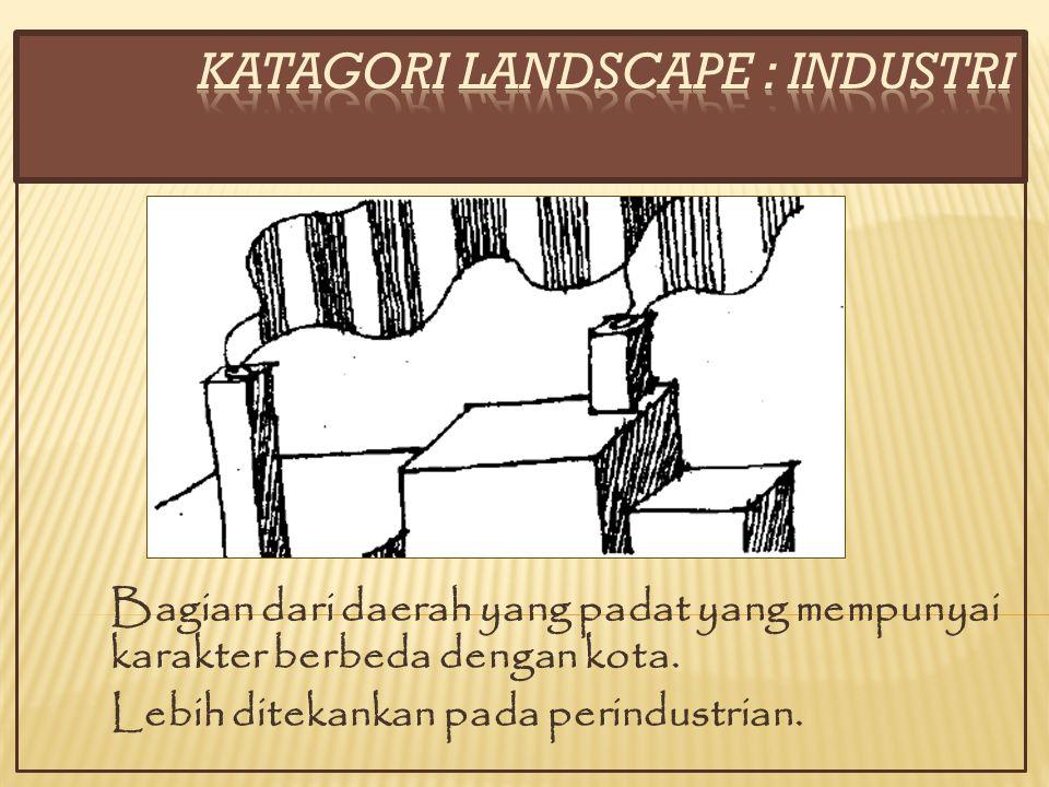 KATAGORI LANDSCAPE : INDUSTRI