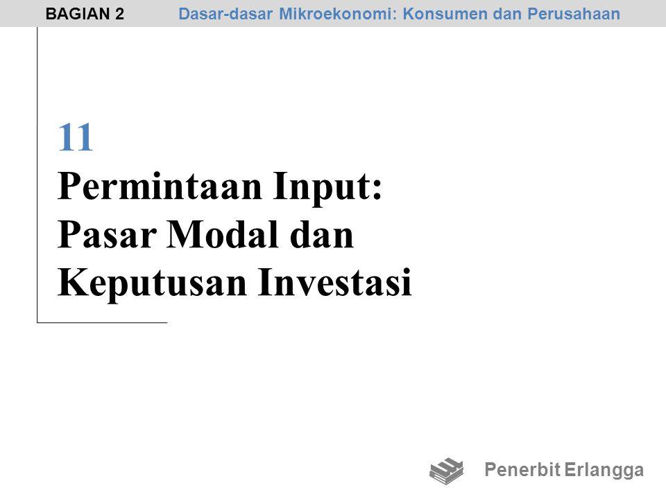 11 Permintaan Input: Pasar Modal dan Keputusan Investasi