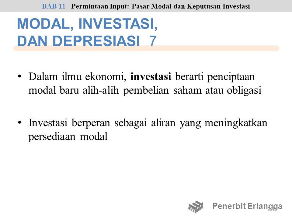 MODAL, INVESTASI, DAN DEPRESIASI 7