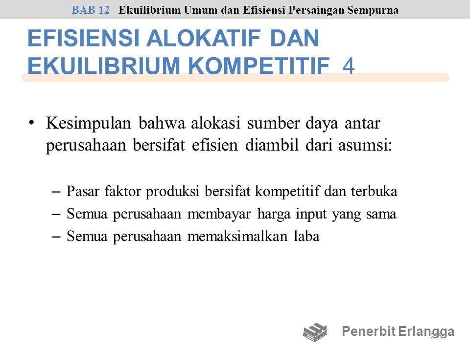 EFISIENSI ALOKATIF DAN EKUILIBRIUM KOMPETITIF 4