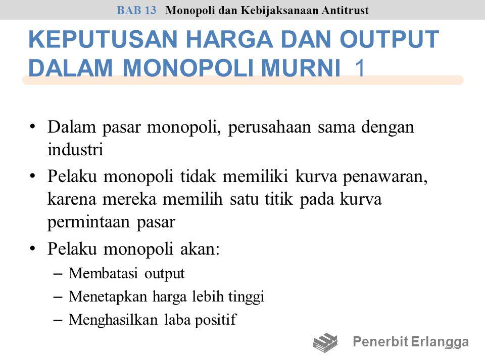 KEPUTUSAN HARGA DAN OUTPUT DALAM MONOPOLI MURNI 1