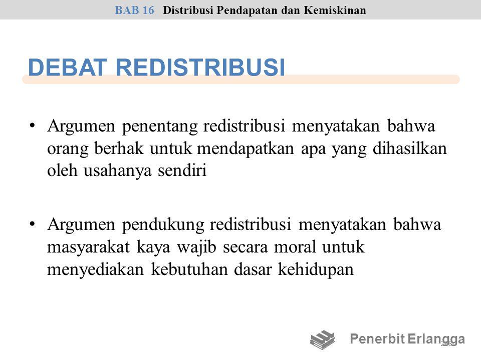 BAB 16 Distribusi Pendapatan dan Kemiskinan