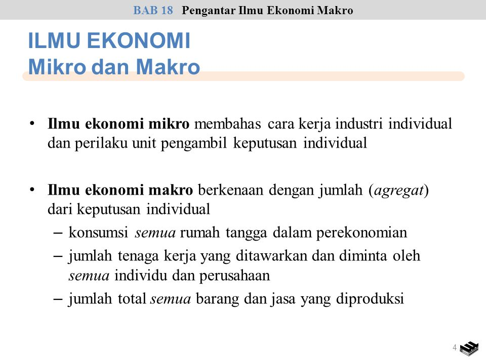 ILMU EKONOMI Mikro dan Makro