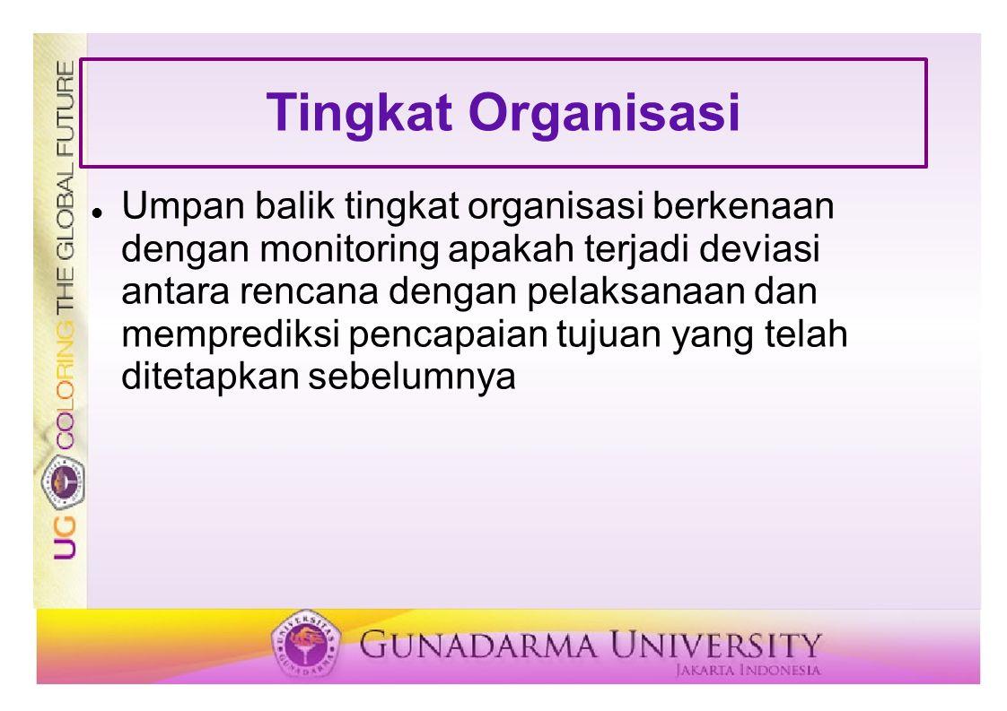 Tingkat Organisasi