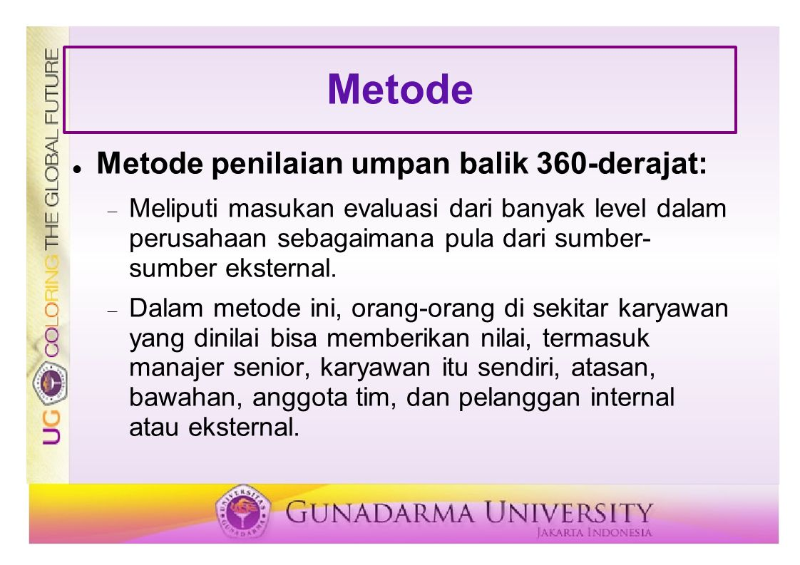Metode Metode penilaian umpan balik 360-derajat: