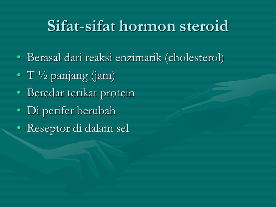 Sifat-sifat hormon steroid