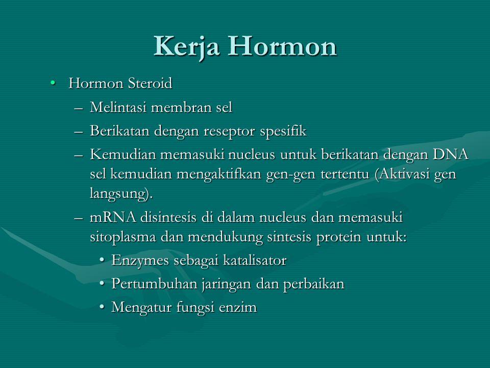 Kerja Hormon Hormon Steroid Melintasi membran sel