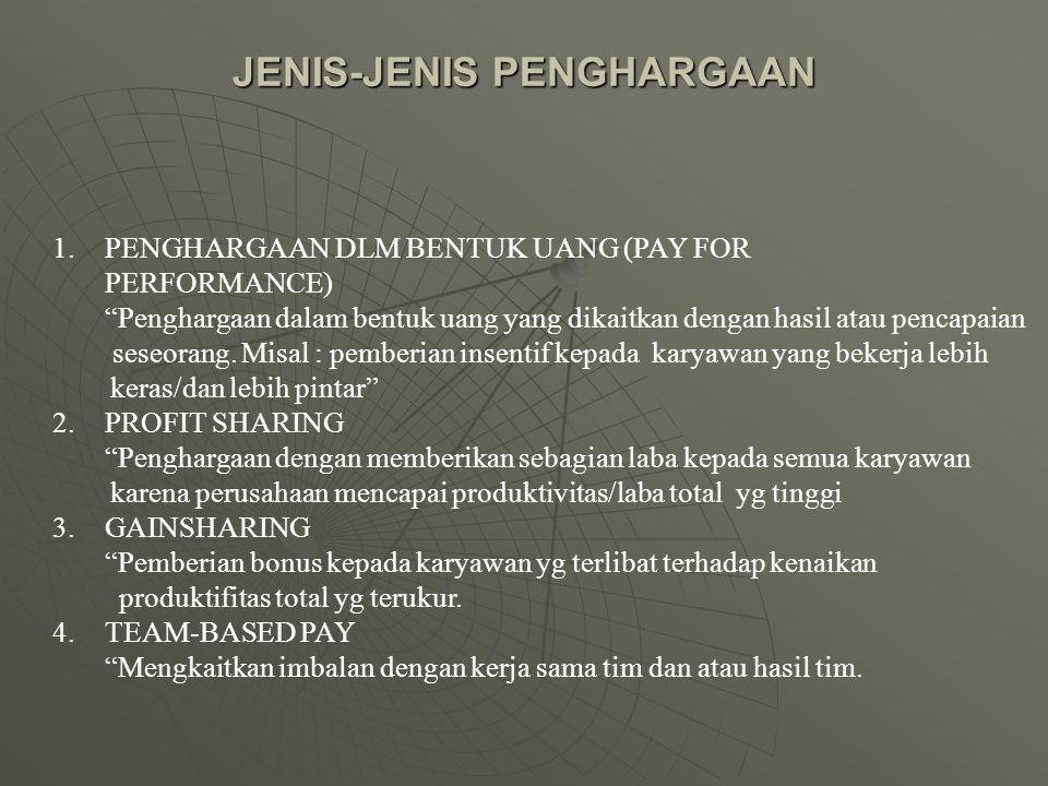 JENIS-JENIS PENGHARGAAN