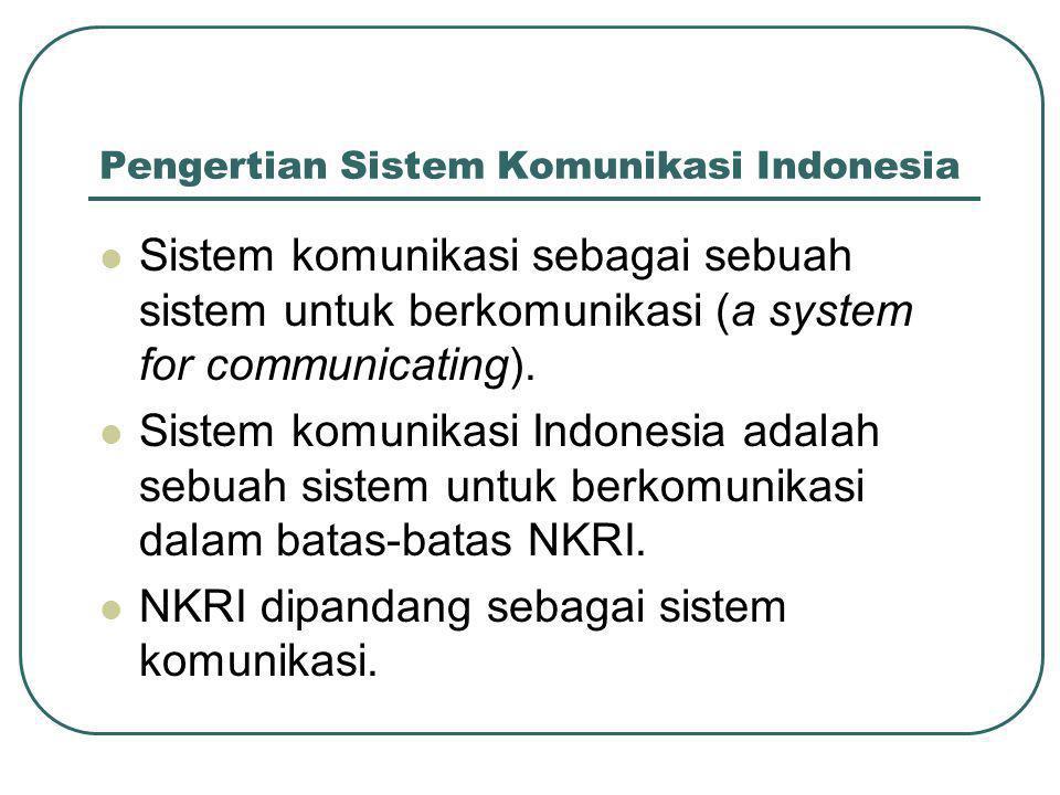 Pengertian Sistem Komunikasi Indonesia
