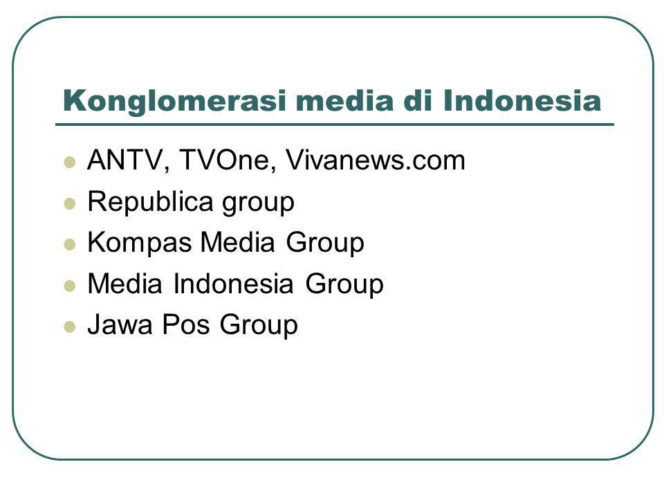 Konglomerasi media di Indonesia