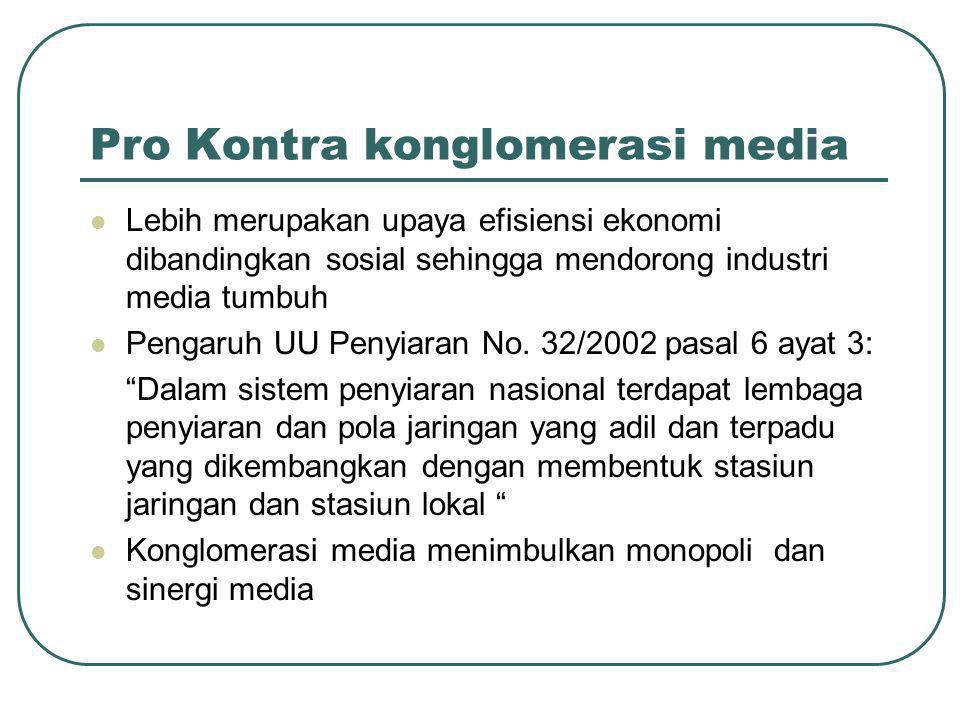 Pro Kontra konglomerasi media
