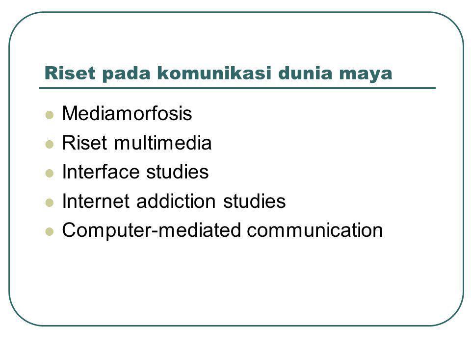 Riset pada komunikasi dunia maya