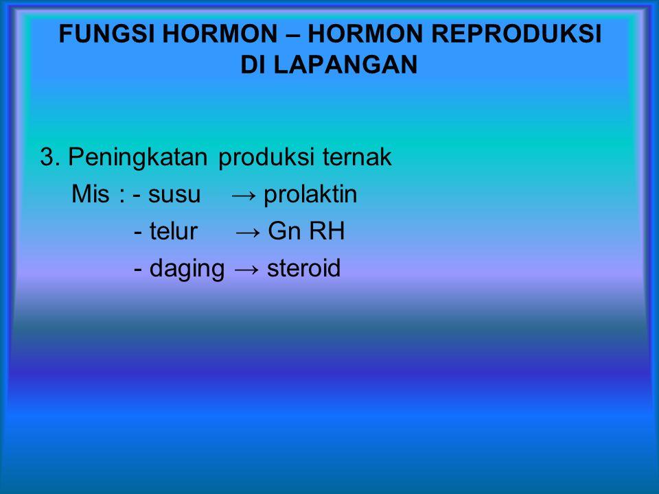 FUNGSI HORMON – HORMON REPRODUKSI DI LAPANGAN