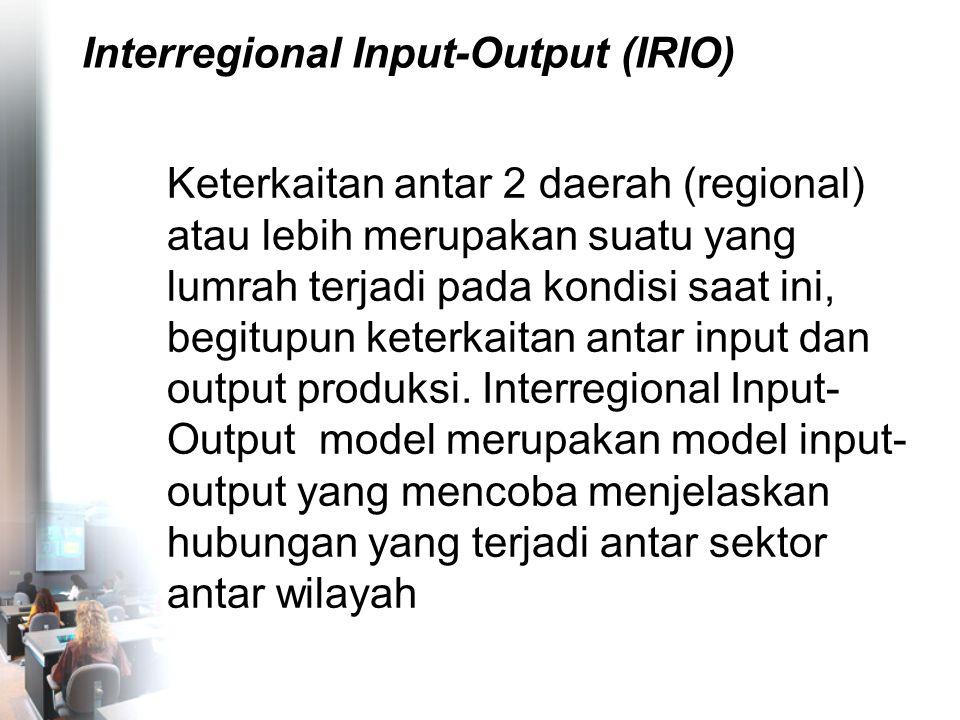 Interregional Input-Output (IRIO)