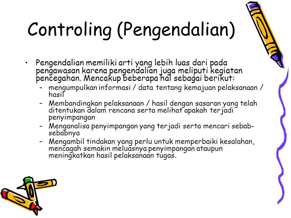 Controling (Pengendalian)