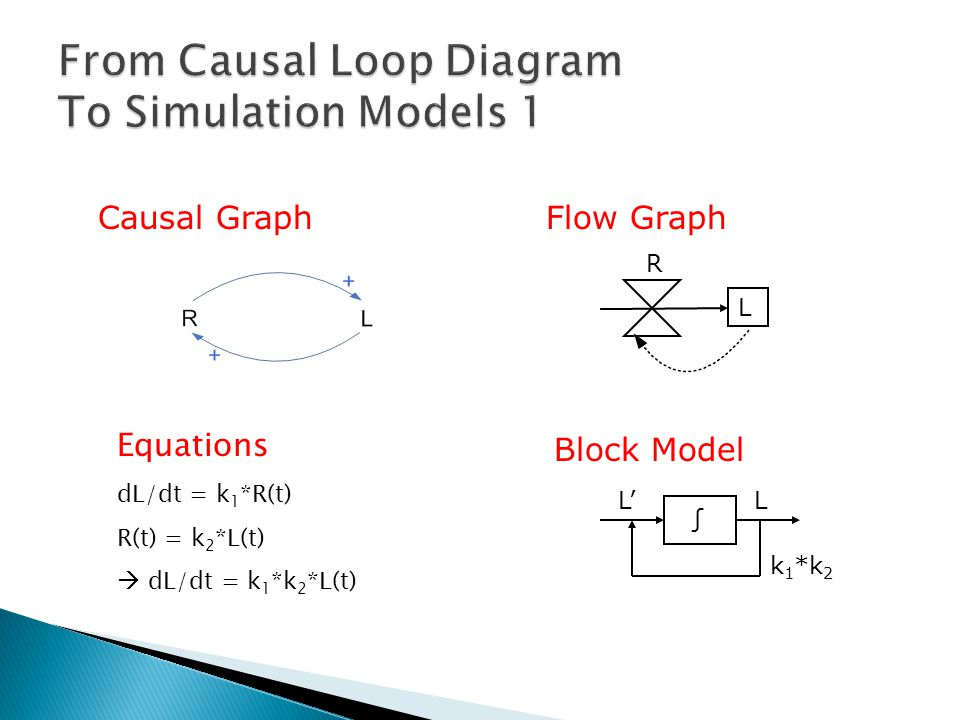 From Causal Loop Diagram To Simulation Models 1