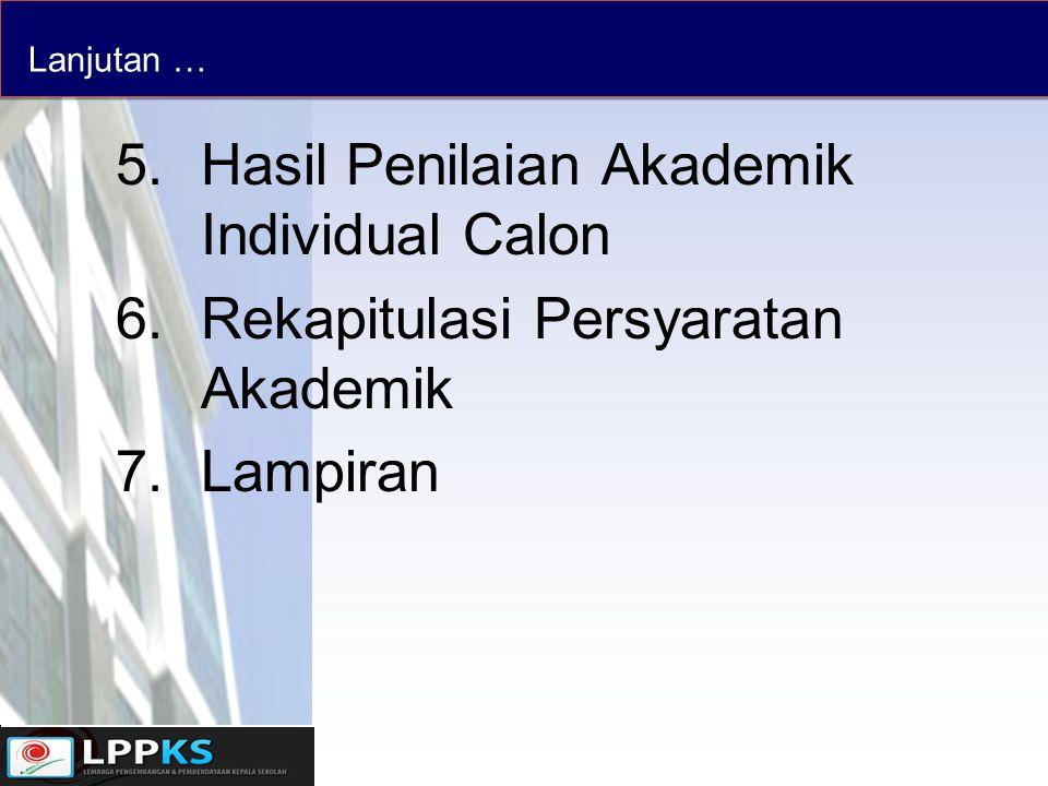 Hasil Penilaian Akademik Individual Calon