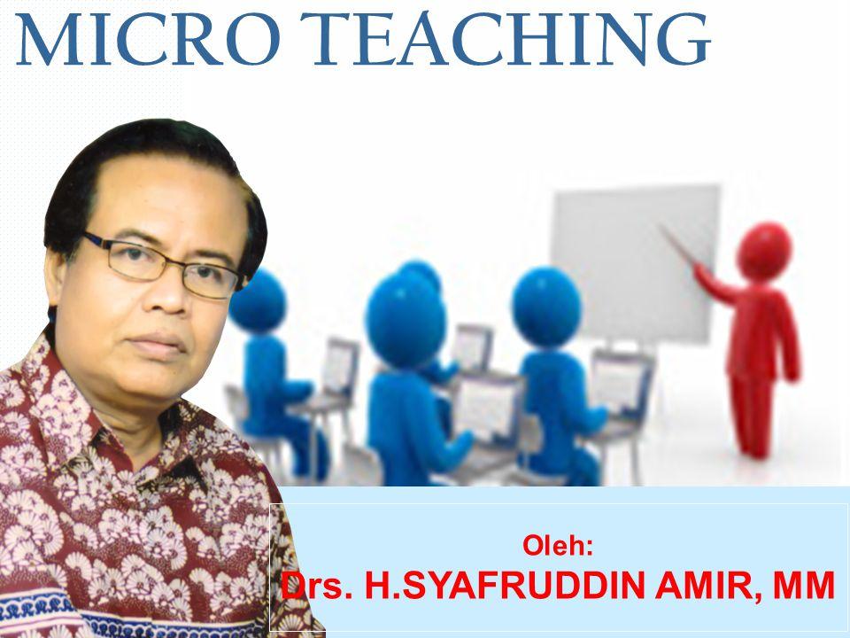 Drs. H.SYAFRUDDIN AMIR, MM