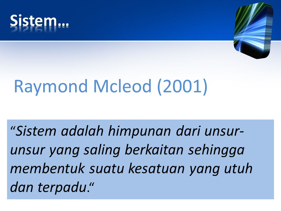 Raymond Mcleod (2001) Sistem…